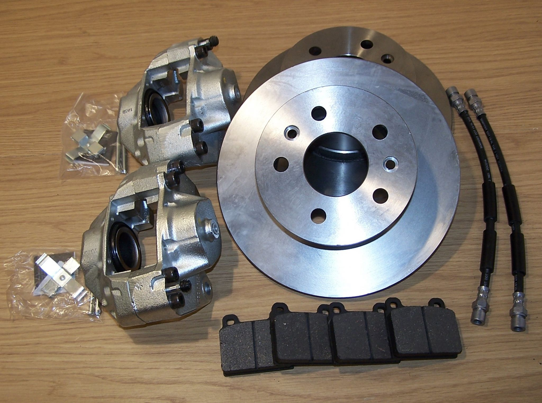 Brake discs Genuine Calipers Hoses Pads with Fitting kit ...