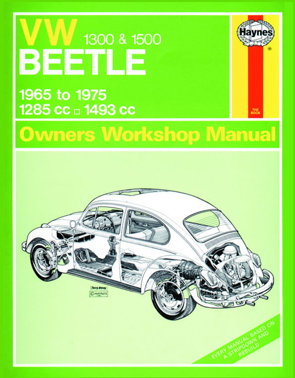 haynes workshop manual vw type 1 beetle 1300 1500cc rh megabug co uk Dark VW Beetle VW Beetle R
